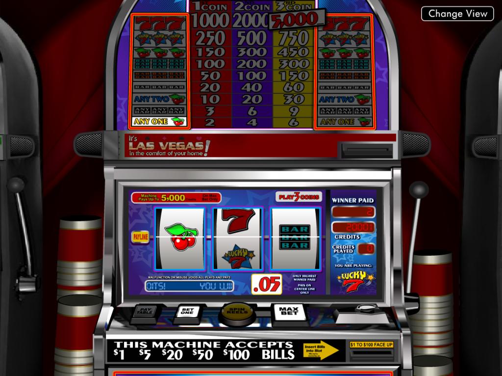 Vera&John(ベラジョンカジノ):クラシックスロット「Lucky 7(ラッキー・セブン)」