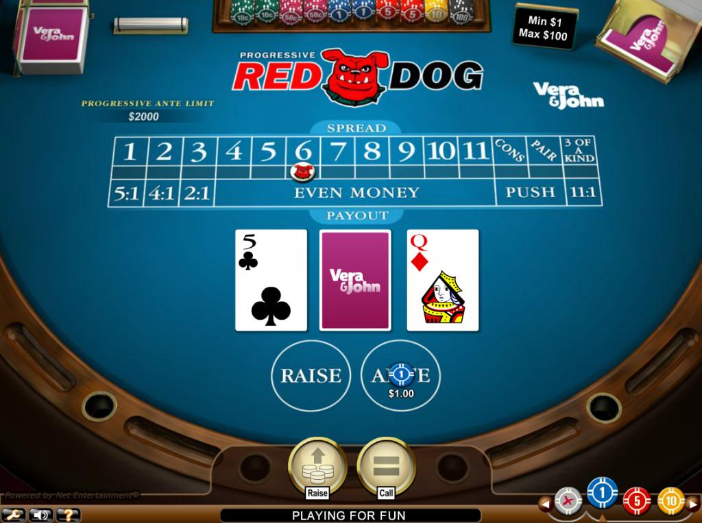 Vera&John(ベラジョンカジノ):レッドドッグ「Red Dog Pro(レッド ドッグ プロ)」