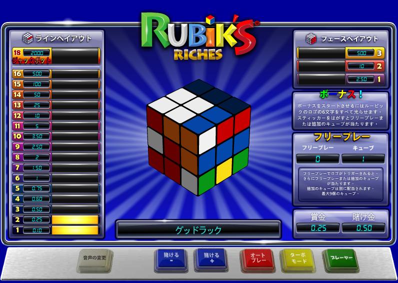 William Hill(ウィリアムヒル):ルービックキューブ「Rubik's Riches(ルービックリッチーズ)」