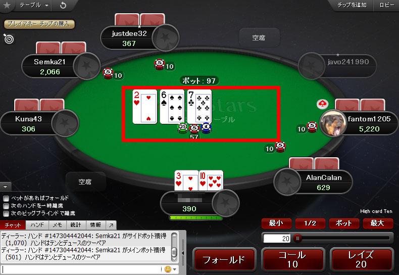 PokerStars(ポーカースターズ):「ホールデム(テキサスホールデム)」