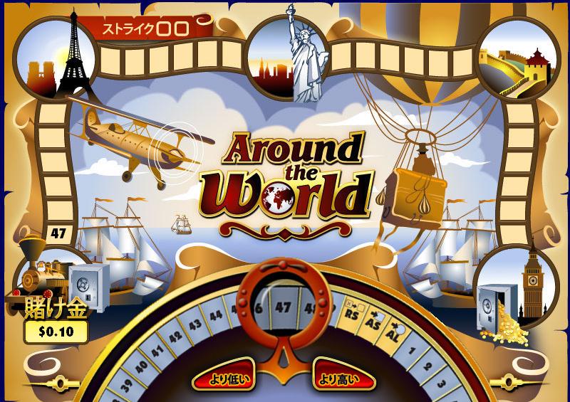 Wild jungle Casino(ワイルドジャングルカジノ):ハイ・ロー「世界一周」