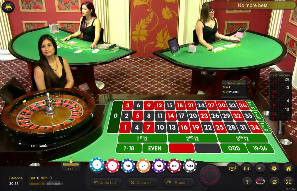 カジノ・リノ:ライブ・ルーレット