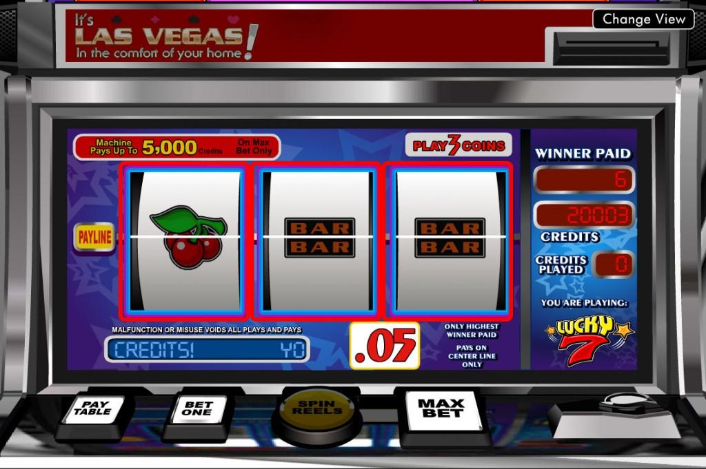 Vera&John(ベラジョンカジノ):クラシックスロット「Lucky7(ラッキー・セブン)」