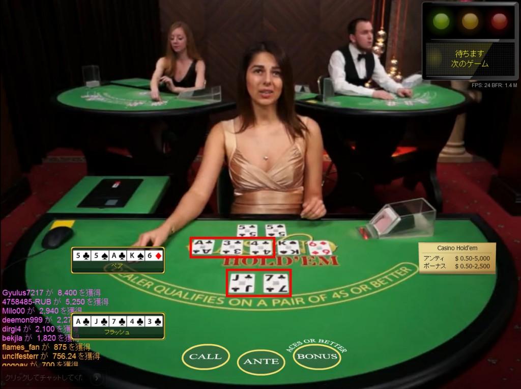 EMPIRE Cacino(エンパイア・カジノ):ライブ・カジノホールデム