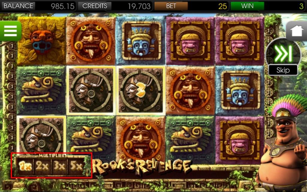 ビデオスロット「Rook's revenge(ロックス・リベンジ)」スマホプレイ画像
