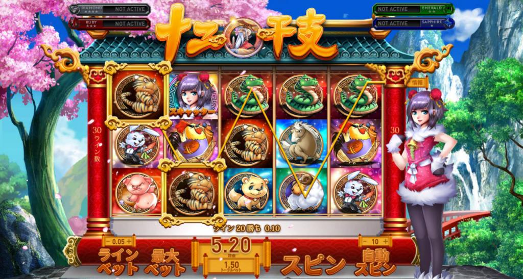 GAMEPLAY:ビデオスロット「Zodiac Asia(ゾディアック・アジア)
